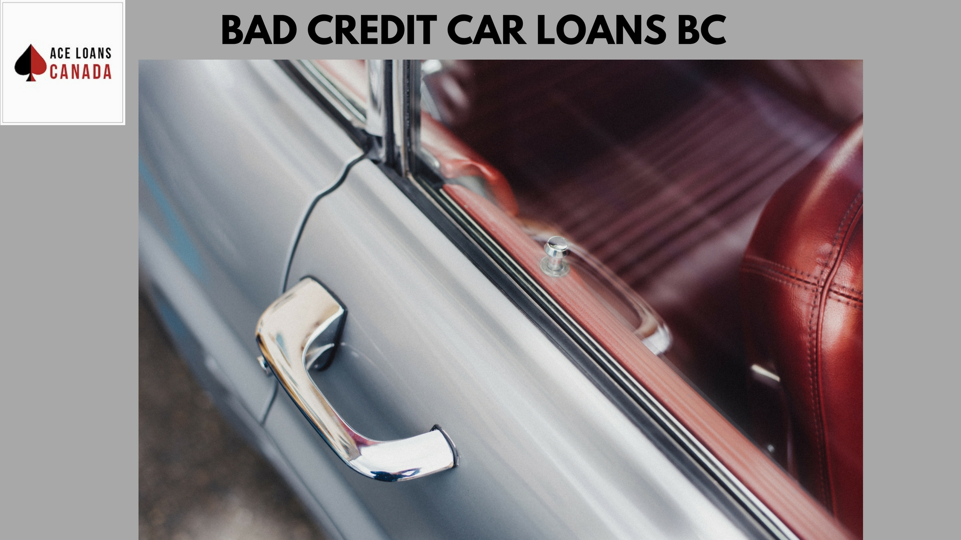 Bad Credit Car Loans BC